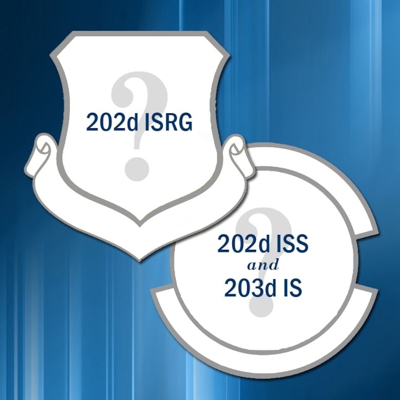 The wing's newest cyber group, the 202nd Intelligence, Surveillance, Reconnaissance Group (202 ISRG), needs your creativity! With the new cyber ISR mission now official, part of the new mission process is to design organizational emblems for the new units.  Per the organizational change request, the 202 ISRG will have 3 subordinate squadrons: 267th Intelligence Squadron (267 IS), 203rd Intelligence Squadron (203 IS) and 202nd Intelligence Support Squadron (202 ISS).