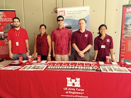 In support of the 2016 Engineers Week, the Honolulu District Workforce Management team and USACE Engineer Interns (shown above from 2015) will participate in the University of Hawaii at Manoa College of Engineering Career Day Feb. 17 to provide future engineers with career guidance, information on potential job opportunities with the Corps, and potential STEM field career paths.