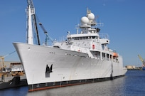 PASCAGOULA, Miss.- The Navy accepted USNS Maury (T-AGS 66) from builder VT Halter Feb. 16.
