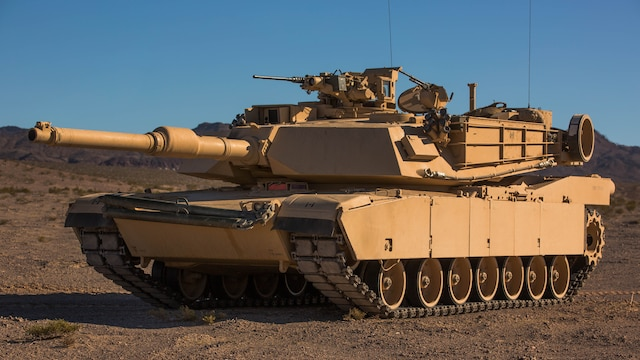 An M1A1 Abrams Main Battle Tank with Company A, 1st Tank Battalion, awaits close-air support during a Tank Mechanized Assault Course as part of Integrated Training Exercise 2-16 in the Quackenbush Training Area at Marine Corps Air Combat Center Twentynine Palms, Calif. Feb. 9, 2016. ITX is designed to prepare units for combat, under the most realistic conditions possible, focusing on battalion and squad level training.