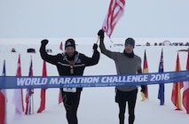 U.S. Marine Corps Capt. Daniel Cartica, Marine Officer Instructor at Northwestern University, competed in the 2016 World Marathon Challenge to honor and commemorate the Marines and sailor who were killed during the Chattanooga Terrorist Attack. The event which took place over seven consecutive days from Jan. 23 - Jan. 29 included seven full marathons on all seven continents. Following the event, Cartica was notified that he surpassed the previous world record by 14 minutes and attributed his inspiration and motivation to the Marines and sailor killed in Chattanooga, Tenn.