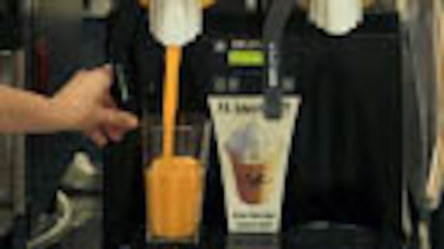 Smoothies add to the variety of drink available at the 12th Marines Mess Hall on Camp Hansen, Okinawa, Japan. Beverages offered in Marine Corps mess halls are based on the Department of Defense Menu Standards