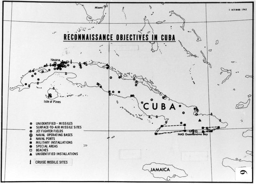 Reconnaissance objectives in Cuba, 1962. (U.S. Air Force photo)