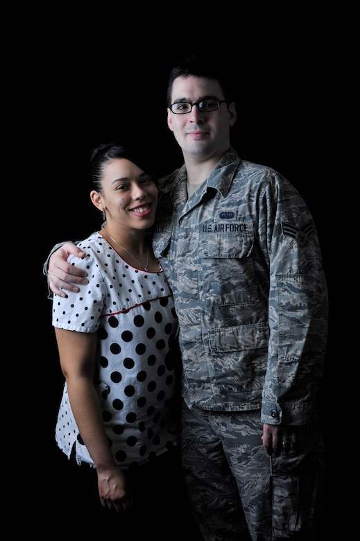 Sasha Southee-Mallin, left, 48th Medical Support Squadron laboratory technician, and U.S. Air Force Senior Airman Matthew Mallin, 100th Communication Squadron wing cyber security technician, pose for a photo Feb. 11, 2016 on RAF Mildenhall, England. The couple provided lifesaving medical care until emergency responders arrived to a heart-attack victim Jan. 17, 2016, while on vacation in Norway. (U.S. Air Force photo by Staff Sgt. Micaiah Anthony/Released)