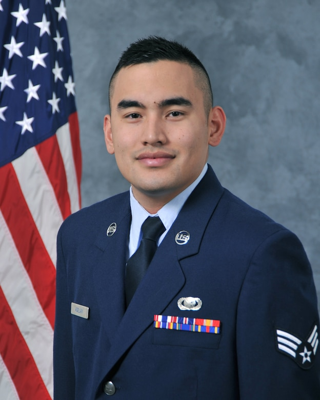 Senior Airman Ramon A. Adelan, 9th Reconnaissance Wing Public Affairs, poses for an official photo, January 25, 2016, at Beale Air Force Base, California (U.S. Air Force photo by Robert Scott)
