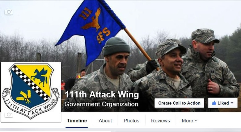 The 111th Attack Wing launched its Facebook page Feb. 18, 2016.