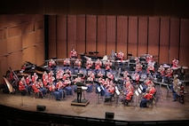 """On Feb. 21, 2016, the Marine Band performed a program that celebrated musical partnerships: those that are told by the music itself and those that bring it to life on the concert stage. Features included Jess Langston Turner's Reanimations, Leonard Bernstein's """"Duet for One"""" from A White House Cantata, and the world premiere of a new transcription of Gerard Schwarz's Rudolf and Jeanette. Maestro Schwarz was in attendance for the special occasion. (U.S. Marine Corps photo by Master Sgt. Kristin duBois/released)"""