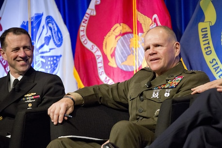 Commandant of the Marine Corps Gen. Robert B. Neller, attends the WEST 2016 Conference at the San Diego Convention Center, Calif., Feb. 19, 2016. Neller was one of the joint service chief speakers during the luncheon town hall. (U.S. Marine Corps photo by Staff Sgt. Gabriela Garcia/Released)