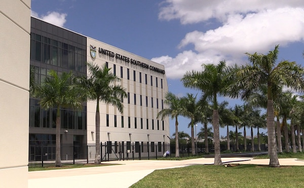 The United States Southern Command Headquarters (SOUTHCOM)in Doral, FL in Greater Miami.