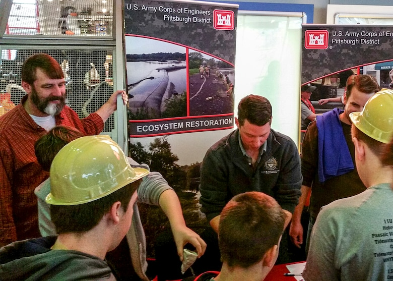 As part of National Engineers Week, members from the Pittsburgh District participated in the Carnegie Science Center's Engineer the Future, two-day event, Feb. 19-20.