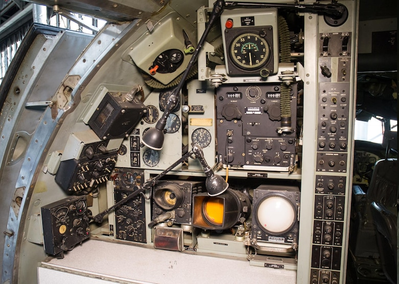 "DAYTON, Ohio -- Lockheed VC-121E ""Columbine III"" flight deck view at the National Museum of the United States Air Force. (U.S. Air Force photo)"