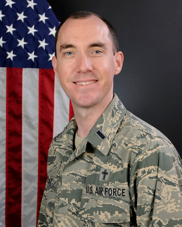 U.S. Air Force Chaplain (1st Lt.) Father Samuel M. Gray, assigned to the 169th Fighter Wing at McEntire Joint National Guard Base, S.C., Jan. 8, 2016. (U.S. Air National Guard by Airman 1st Class Megan Floyd)
