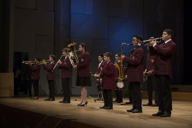Matthew C. Perry Elementary and High School students on Marine Corps Air Station Iwakuni, Japan, and Japanese students from the surrounding area participated in the 6th Annual Friendship Concert at Sinfonia Iwakuni Concert Hall, Iwakuni City, Feb. 20, 2016. The students practiced together weekly in preparation for the concert. Events like these allow the children of both nations to learn to work together despite language barriers and tighten the friendship between the U.S. and Japan.