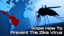 """Know how to prevent the zika virus"" graphic."