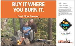 Buy it where you burn it. Dontmovefirewood.org reminds the public to help prevent the spread of invasive forest pests by not moving firewood. Tree-killing insects and diseases can lurk in firewood. They can't move far on their own, but when people move firewood they can jump hundreds of miles. New infestations destroy our forests, property values, and can be costly to control.