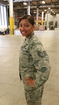 On Feb. 7, Defense Logistics Agency Distribution Bahrain's Adreana Freeman-Irons pinned on the rank of Air Force Technical Sergeant.