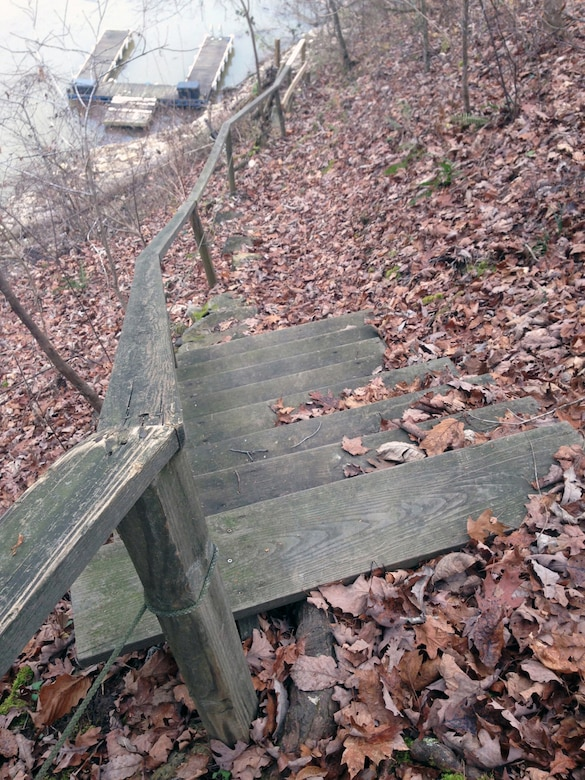 Improved access steps on public land are allowed in the Nashville District through a minor shoreline license process if approved.