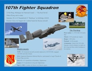 107 Fighter Squadron & A-10 Thunderbolt II Highlights poster, 2015