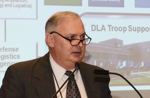 William Kenny, DLA Troop Support executive director of contracting and acquisition management, discusses DLA's culture improvement efforts at the annual Federal Executive Board Equal Employment Opportunity and Diversity training event in Philadelphia Nov. 23. Kenny is also the recipient of the 2015 Partners in Equality Council Achievement Senior Leadership Award for helping the agency achieve progress in EEO and diversity programs, including recruitment, hiring, promotions, awards and career development opportunities.