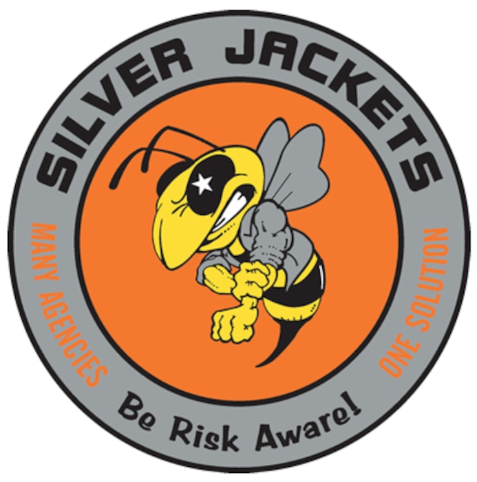 Graphic depicting the Silver Jackets mission and motto.
