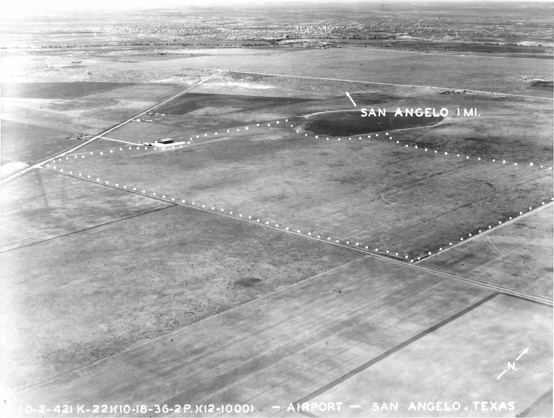 After a dozen years in operation, the San Angelo airport would close to make way for the flight patterns of a new Army Air Corps flying school planned for the open terrain just north of the airport. (Courtesy photo used with permission)