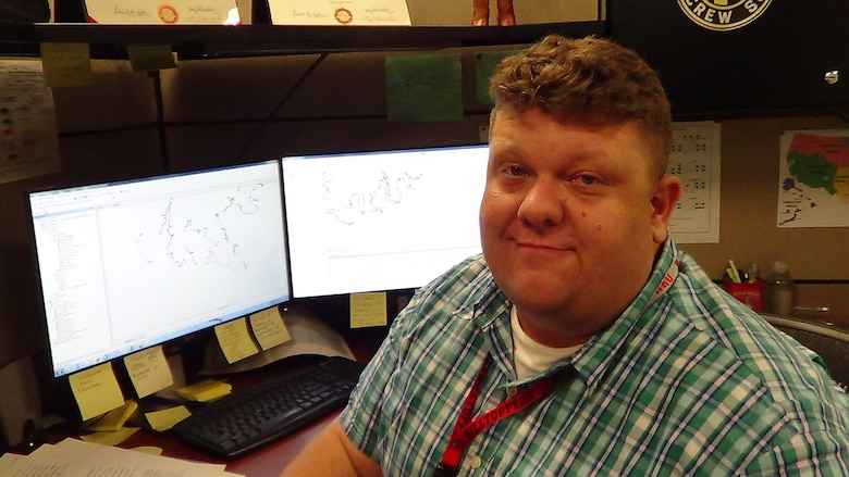 Nathan Cary, a cartographic technician, in the Real Estate Division, is the U.S. Army Corps of Engineers Nashville District's Employee of the Month for November 2015.