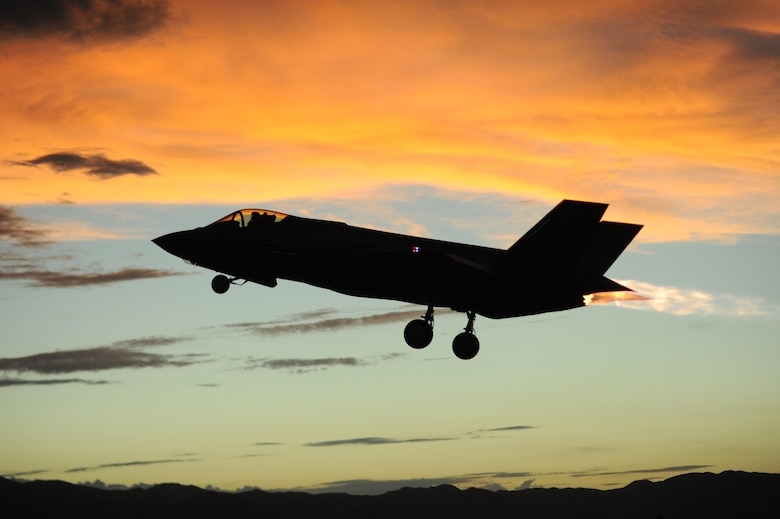 An F-35 Lightning II assigned to the 61st Fighter Squadron at Luke Air Force Base, Ariz., takes off July 28, 2015. Since 2010, the F-35 has flown more than 30,000 hours. (U.S. Air Force photo/Staff Sgt. Staci Miller)