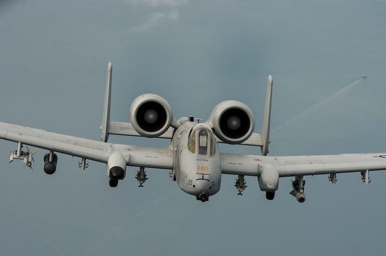 An A-10 Thunderbolt II flies over the Baltic Sea on Sept. 4, 2015. The engagement included the deployment of eight A-10s from the 303rd Fighter Squadron at Whiteman Air Force Base, Mo., to Amari Air Base, Estonia. The U.S. is committed to ongoing reassurance efforts to NATO allies in Eastern Europe. (U.S. Air Force photo/Tech. Sgt. Jason Robertson)