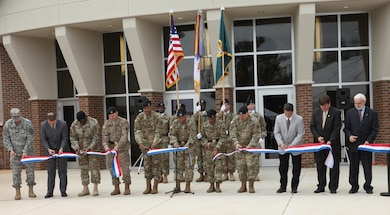 ACC celebrated the completion of the new headquarters building on Redstone Arsenal, Alabama with a ribbon-cutting ceremony Jan. 7.