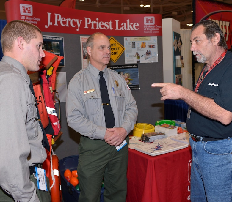 NASHVILLE, Tenn. (Jan. 8, 2016) – Boating enthusiasts attending the 30th annual Progressive Nashville Boat & Sportshow at Music City Center are encouraged to navigate to the Corps of Engineers booth to get important information about local lakes before embarking on the water this recreation season.