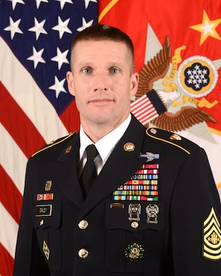 Official photo of Sergeant Major of the Army Daniel Dailey