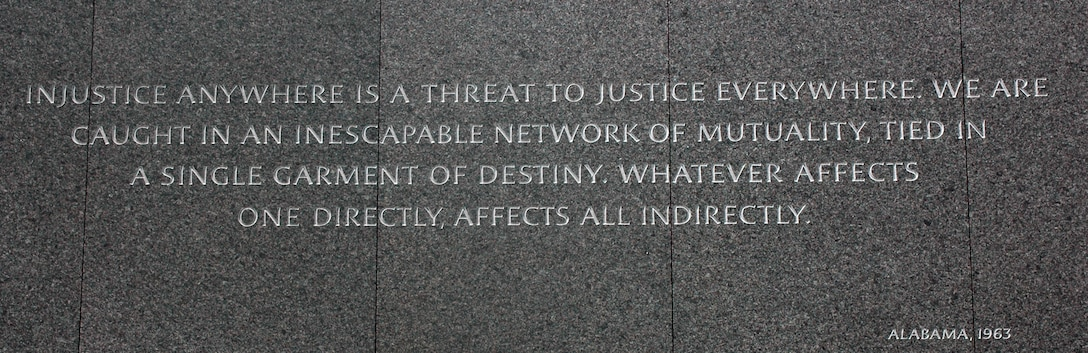 WASHINGTON - Martin Luther King, Jr. National Memorial inscription. (National Park Service/Released)