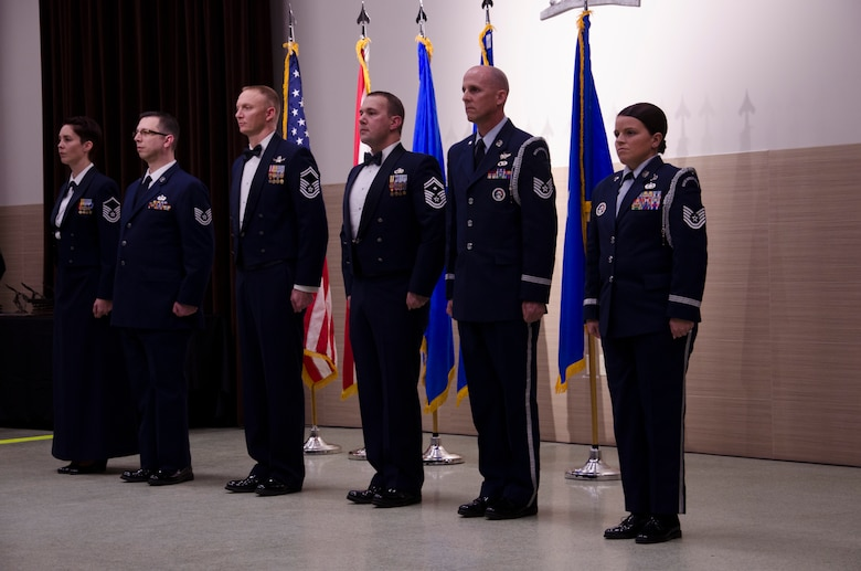 Airmen from the 125th Figher Wing honor the Outstanding Airmen of the Year for the state of Florida during a banquet in St. Augustine on Jan. 8. Twenty-six nominees were selected from the nearly 2,000 Airmen that make up the Florida Air National Guard, and seven winners will move on to compete at the national level.