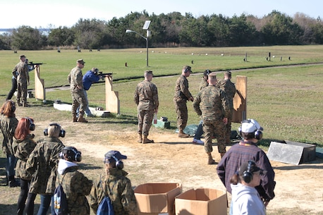 Educators from the greater Orlando and Fort Lauderdale, Fla. areas practice live fire at the range January 13, 2016 aboard Marine Corps Recruit Depot Parris Island, S.C. The three-day workshop will give the educators a chance to experience the day-to-day routines aboard the depot and Marine Corps Air Station Beaufort, S.C. The purpose of the workshop is to give the educators a better understanding of the Marine Corps. (Official Marine Corps photo by Cpl. Diamond Peden)