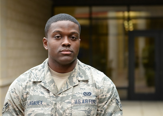 Airman 1st Class Eric Labauex, 9th Civil Engineer Squadron. (U.S. Air Force photo by Robert Scott)
