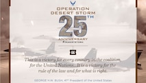 25th anniversary graphic of Operation Desert Storm