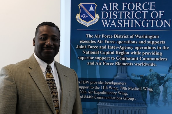 Wayne McCray, an Air Force District of Washington Capital Airman, is an essential contributor to the Air Force communication mission within the National Capital Region. McCray's support with the 844th Communications Group also has a direct impact on the global Air Force mission.McCray is an education specialist for AFDW's A6 and the 844th CG. He is also the commander's program inspection manager and inspector general for the 844th CG. (Tech Sgt. Matt Davis)