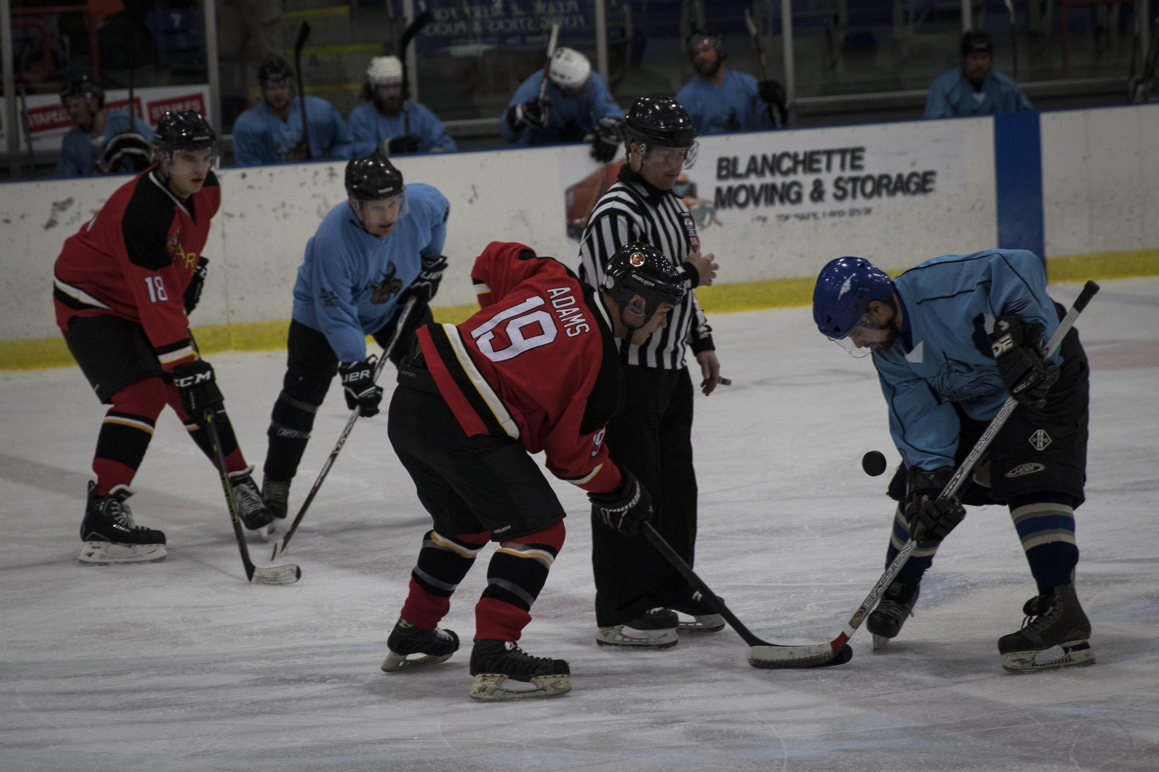 Marine Hockey Team Plays In Maine