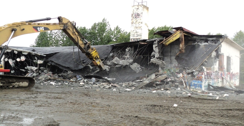 During the summers of 2010 and 2011, the Kenaitze Indian Tribe work crew demolished Wildwood Air Force Station's Buildings 100 and 101. The project was made possible by the Native American Lands Environmental Mitigation Program and conducted through a cooperative agreement with the U.S. Army Corps of Engineers - Alaska District.