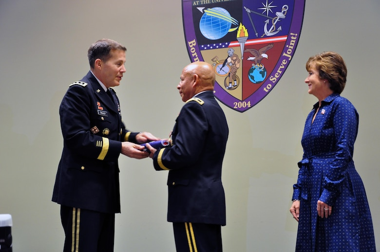 In a retirement ceremony held on Jan. 16, 2016, co-hosted by the U.S. Army Reserve and the University of South Florida, Lt. Gen. Jeffrey Talley, chief of the Army Reserve, recognized Maj. Gen. Luis Visot for his more than 37 years of service to the Army and the nation. Maj. Gen. Visot and his wife, Dr. Cindy Visot, were both honored for their extensive time and contributions to their community, to their civilian occupations and to the Soldiers, civilians and families of the U.S. Army Reserve.