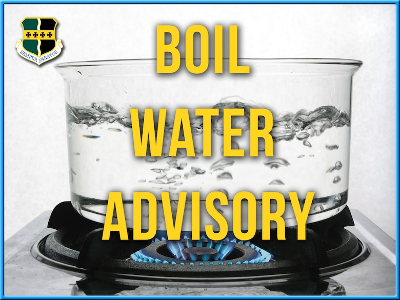 There is currently a Boil Water Advisory in effect for all Beale Air Force Base consumers as of 6 p.m., January 17, 2016.  Water should be boiled for at least 5 minutes before drinking, making ice cubes, washing foods, brushing teeth or in any other activity involving the consumption of water (U.S. Air Force graphic by Airman 1st Class Benjamin Bugenig)