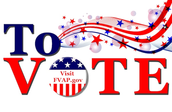 The Federal Voting Assistance Program (FVAP) helps military members and their families vote for federal elections from anywhere in the world. The FVAP provides voting information as well as the step-by-step procedures to vote. (U.S. Air Force graphic by Staff Sgt. Shandresha Mitchell)