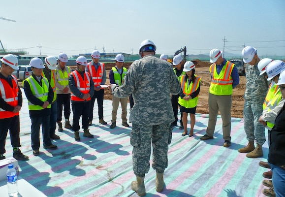 On April 30, 2013, the garrison chaplain met with the FED construction team and the construction contractor, and held a prayer ceremony on the freshly placed floor slab of Chapel #1 in lieu of a traditional groundbreaking.