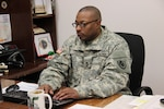 Army Sgt. 1st Class Bradrick Davis, transportation Non-Commissioned Officer in Charge at Defense Logistics Agency Distribution Susquehanna, Pa., has been awarded the Distribution Senior Non-Commissioned Officer of the Quarter for fourth quarter, fiscal year 2015.