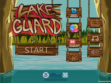 Test your speed, reflexes and boating knowledge with the Corps' new Lake Guard game app. The free app teaches users about water safety gear and boating hazards preparing them for real life experiences in or around the water.