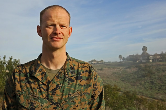 Camp Pendleton Marine, Staff Sgt. Ryan Farish, a career planner with Security and Emergency Services Battalion, rescued a girl from the surf in the La Jolla Cove area, Jan. 17.