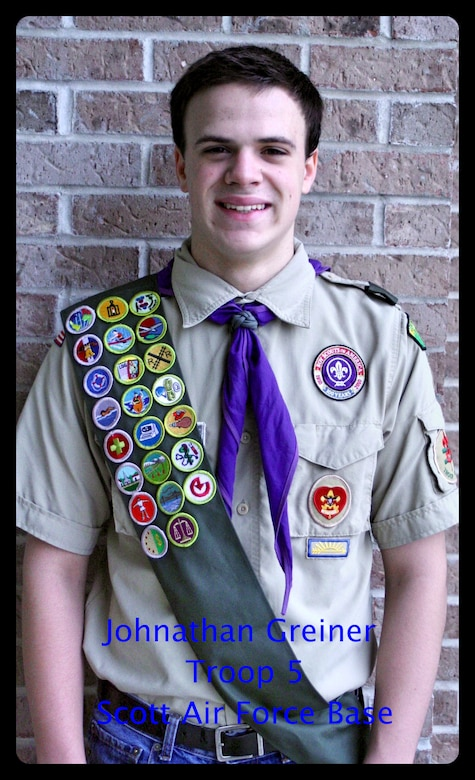 Johnathon Greiner created an Eagle Scout project to provide deployed troops with care packages. Beginning December members of Team Scott are encouraged to donate items at the base commissary.  Greiner has already collect nearly 40 packages to send to troops by March.