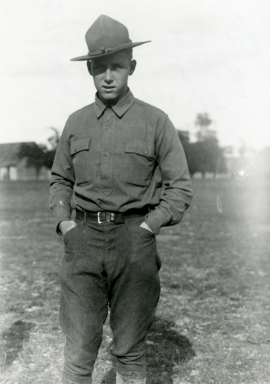 Casualties among pilots were common during World War I, though miraculously, Private John E. Tynan, a Nieuport pilot, very narrowly managed to avoid his own brush with death. He continued to serve with the 26th Aero Squadron in France until the end of the war. (U.S. Air Force photo)