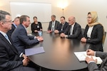 U.S. Defense Secretary Ash Carter meets with Afghan President Ashraf Ghani, second from right, in Davos, Switzerland, Jan. 22, 2016. DoD photo by Army Sgt. 1st Class Clydell Kinchen