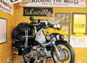 "Jim Oliver of Golden, Colorado, rode ""Lucille"" on a World Trip he completed in 60 days as he traveled through 13 countries, covering more than 15,000 miles."